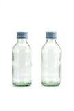 Deux de la bouteille en verre Image libre de droits