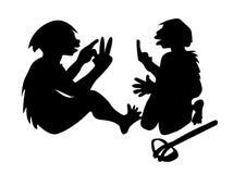 Deux de Néanderthal équipe illustration stock