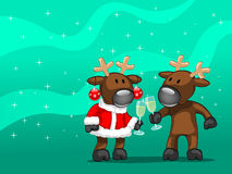 Deux deers Image libre de droits