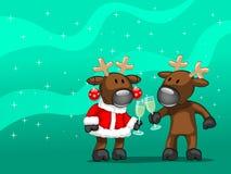 Deux deers Illustration de Vecteur