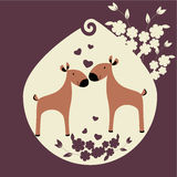 Deux deers illustration stock