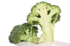 Deux demi de brocolis Photographie stock libre de droits