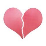 Deux demi morceaux du coeur brisé Image libre de droits