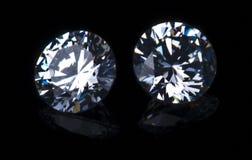 Deux diamants circulaires Photos stock