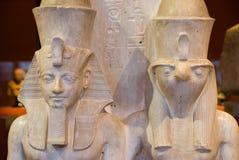 Deux dieux d'egyption photographie stock