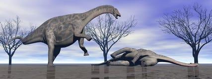 Deux dinosaures Photographie stock
