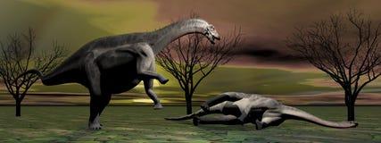 Deux dinosaures Images stock