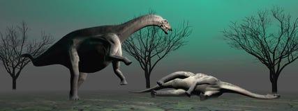 Deux dinosaures Photographie stock libre de droits