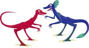Deux dinosaurs Photos libres de droits