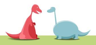 Deux dinosaurs Photo libre de droits