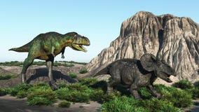 Deux dinosaurs Photographie stock