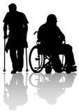 Deux disableds illustration stock