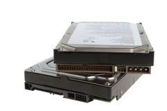Deux disques durs d'ordinateur photo libre de droits