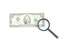Deux dollars de note Photographie stock