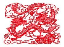 Deux dragons jouant un globe Images libres de droits