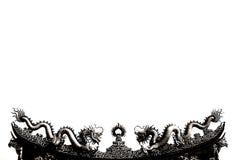 Deux dragons noirs et blancs abstraits Images stock