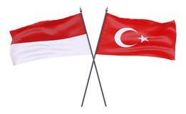 Deux drapeaux croisés illustration stock