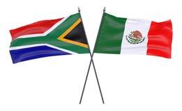 Deux drapeaux croisés illustration libre de droits