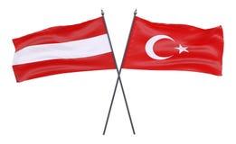 Deux drapeaux croisés illustration de vecteur