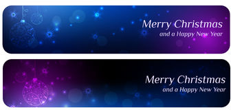 Deux drapeaux de Noël Photo stock