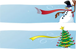 Deux drapeaux de Noël Photo libre de droits