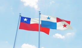 Deux drapeaux de ondulation illustration libre de droits