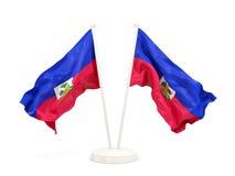 Deux drapeaux de ondulation du Haïti illustration libre de droits