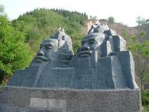 Deux empereurs féeriques \ 'statue Image libre de droits
