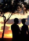 Deux enamourés. Images libres de droits