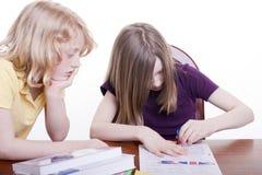 Deux enfants image libre de droits