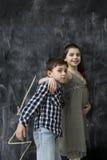 Deux enfants heureux photos stock