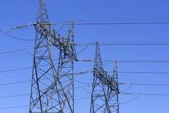 Deux ensembles de cables électriques Photos stock