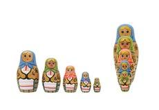 Deux ensembles de matreshkas Image stock