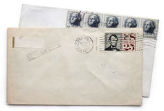 Deux enveloppes Image stock