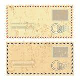 Deux enveloppes grunges colorées Photographie stock libre de droits