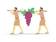 Deux espions des raisins de transport de l'Israël de Canaan illustration libre de droits