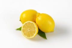 Deux et demi de citrons Image libre de droits