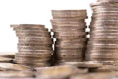 Deux euro pièces de monnaie Images libres de droits