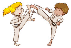 Deux experts en matière d'arts martiaux Photos libres de droits