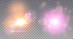 Deux explosions d'étoiles Images stock