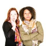 Deux fâchés ou femmes modernes sceptiques Photo libre de droits