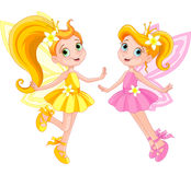 Deux fées mignonnes Images libres de droits
