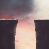 Deux falaises grandes Photos libres de droits