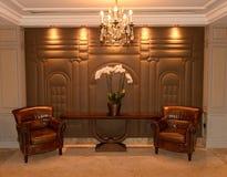 Deux fauteuils dans l'hôtel luxueux images libres de droits