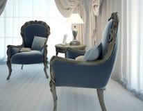 Deux fauteuils dans le style d'art déco de salon Photos stock