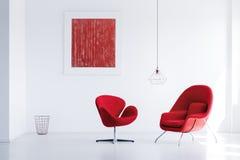 Deux fauteuils rouges Photos libres de droits