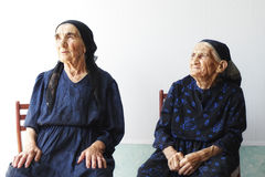 Deux femmes aînées Photo stock
