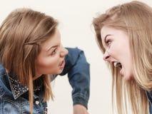 Deux femmes ayant discutent Photo libre de droits