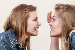 Deux femmes ayant discutent Photos stock