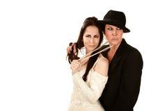 Deux femmes comme mariée et marié Photo stock